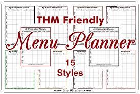 Free Thm Menu Planner Set