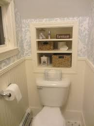 Recessed Shelves Bathroom Before And After Powder Room Toilets Recessed Shelves And Dado