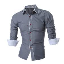 Mens Design Dress Shirts 2019 2017 New Mens Long Sleeved Man Dress Shirts Double Collar Button Unique Design Slim Fit Brand Shirts Male Shirts From Herish 33 51 Dhgate Com