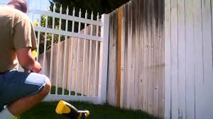 Daddy Chores How to Stain and restore an old wood picket fence