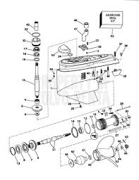 volvo penta exploded view schematic lower gear unit sx s sx st exploded view schematic