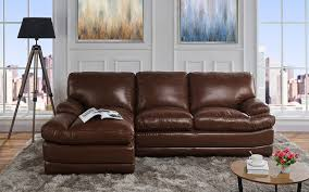leather match sectional sofa l shape couch with chaise lounge right chaise light brown com