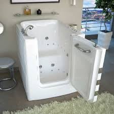 Bathtubs Idea, Interesting Walk In Whirlpool Tub Healthy Bathroom With Mat  And Chair And Faucet