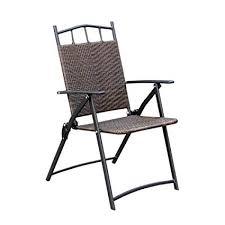 Cqq bar chair Imitation Rattan Folding chair <b>Portable Garden</b> ...