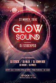 glow flyer freepsdflyer glow sound free psd flyer template download flyer
