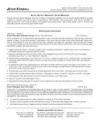 Sample Resume For Retail Manager Position Resume For Study