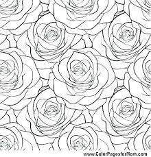 Pretty Flowers Coloring Pages With Page Of Flower Printable