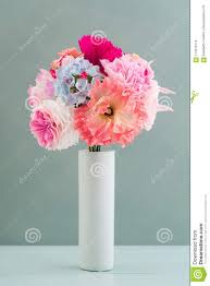Paper Flower Bouquet In Vase Crepe Paper Flower Bouquet Stock Photo Image Of Spring