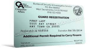 Companies Guards Security Card - Guard Schools California