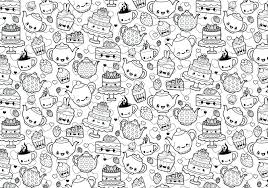 Coloring Pages Halloween Cat For Adults Free Printable Tea Cup Page