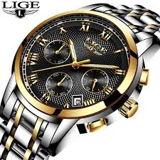 LIGE <b>Watch Men Fashion Sport</b> Quartz Clock Mens Watches Top ...