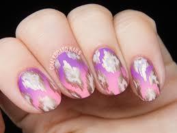 Rose Gold Ikat Patterned Nails | Chalkboard Nails | Nail Art Blog