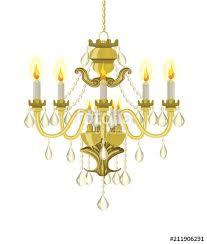 golden vintage chandelier vector chandelier chandelier with candles vector ilration