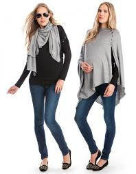 grey tfeeding cover shawl
