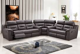 image of leather recliner sectional sofa