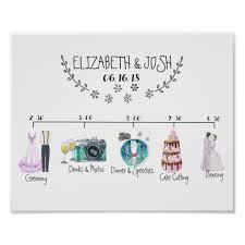 Wedding Schedule Informal Wedding Schedule Welcome Sign Zazzle Co Uk