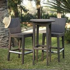 stylish outdoor furniture. Beautiful Hospitality Rattan Outdoor Furniture And Stylish Shop 3 Piece Wicker Bar Patio Dining Set