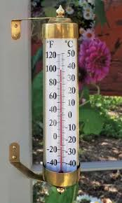 giant wall thermometers outdoor
