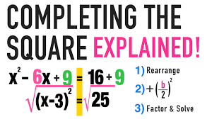 completing the square formula your
