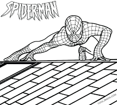 Spiderman Coloring Pages Online Amazing Spider Man 2 Printable For