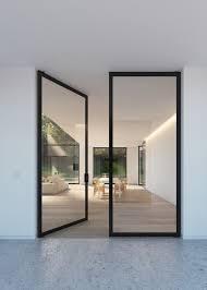 steel glass doors. Image Of: Double Interior Glass Doors Steel