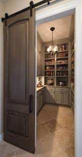 sliding barn doors. sliding barn door into spacious pantry doors