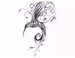 tribal hummingbird tattoo drawing. Exellent Tribal Hummingbird Tattoo Black Tribal Drawing At Getdrawings  Free  For Personal Throughout A
