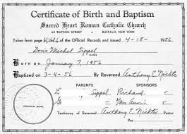 Baptism Certificate Baptismal Certificates Forbidden Family