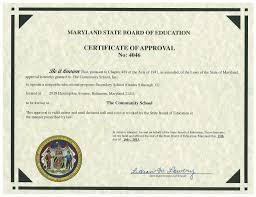 The Community School Certifications