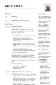 solutions architect resume