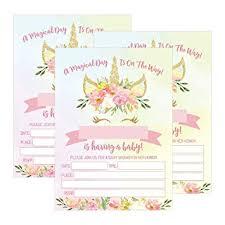 Unicorn Baby Shower Invitation Ideas Invitation Templates