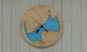 wooden tide clock manukau harbour detail previous