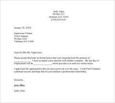 Management Resignation Letter 21 Professional Resignation Letter Templates Pdf Doc Free