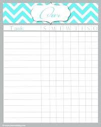 Chore Chart Templates Free Printable Kids Chore Chart Template Luxury Printable Chore Chart Kids
