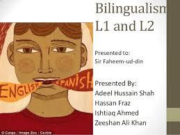 L1 And L2 Bilingualisam L1 And L2