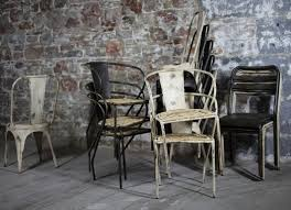 distressed industrial furniture. leta industrial chair distressed black furniture