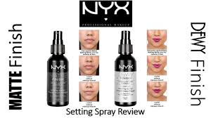 rapid review nyx matte finish dewy finish makeup setting sprays you