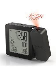 oregon scientific projection alarm clock with weather forecasting supple ceiling projection clock