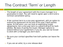 music management contract dip artist management artist contracts