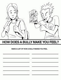 Bullying Coloring Pages Printable#553082