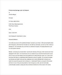 Customer Apology Letter Examples Adorable Professional Apology Letter 48 Free Word PDF Format Download