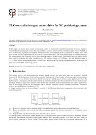pdf plc controlled stepper motor drive for nc positioning system