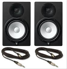 yamaha hs8 pair. image: yamaha hs8 active nearfield monitors pair with free cables hs8