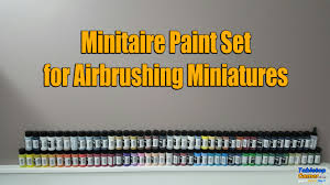 Minitaire Paint Conversion Chart Minitaire Paint Set For Airbrushing First Impressions