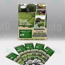 Marketing Flyer Flyer Ticket Bundle Lawn Care Branding The Lawn Market 23