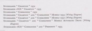 studebaker champion commander 1952 5 data wiring diagrams 7pp pub studebaker champion commander 1952 5 data wiring diagrams 7pp pub 1956 post motorden