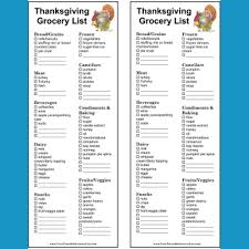 Thanksgiving Grocery List Template Printable Thanksgiving And Christmas Grocery Lists