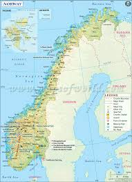 norway map map of norway