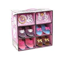 ToyVelt Princess Dress Up \u0026 Play Shoe and Jewelry Boutique (Includes 4 Pairs of Shoes Best Gifts for 2 Year Old Girls: Amazon.com