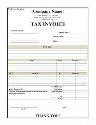 Gst Tax Invoice Layout Resume Templates Medical Template Personal